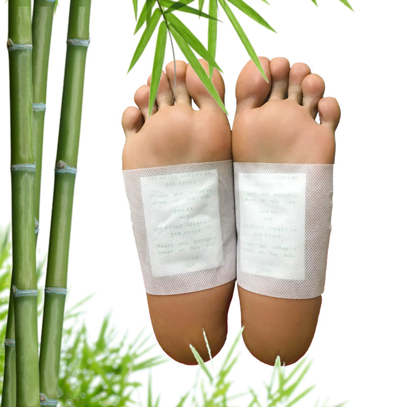 Hot Sale! 8pcs Kinoki Detox Foot Pad Patch Feet Care Body Massager Bamboo Herbal Plaster Stress Relief Better Sleep Health Care 25 pair herbal detox foot pad patch massage relaxation herbs medical health care plaster treatment joint pain improve sleep rp2