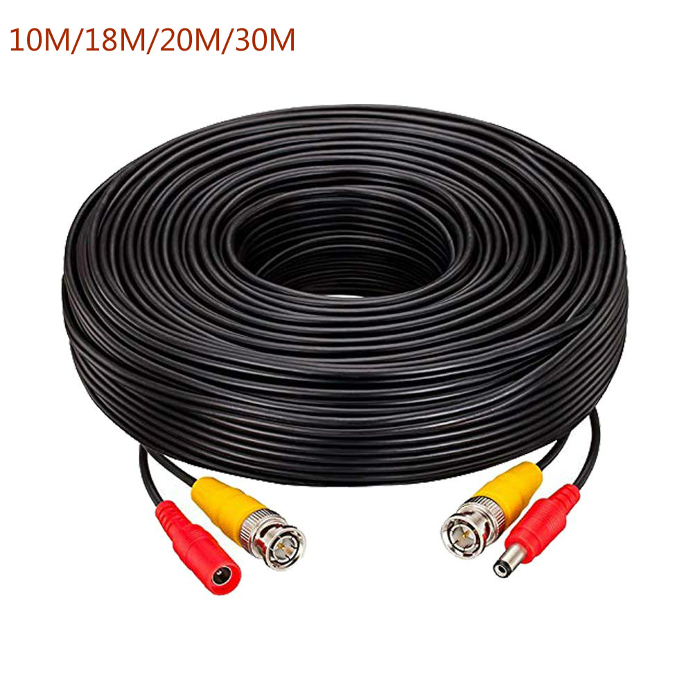 20M//65ft Video Power Cable BNC Security Camera CCTV Wire DVR Surveillance Cord