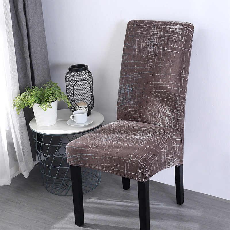 Современные съемные чехлы на обеденные стулья, универсальные эластичные чехлы на стулья из спандекса для банкета, свадьбы, домашнего декора