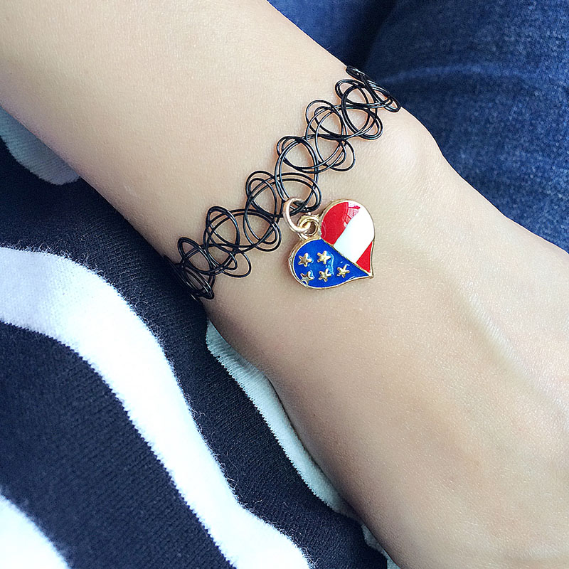 American flag sign bracelet with charms Bracelets For Women girls gift Fashion Jewelry Bracelets Wholesale cheap DIY necklace