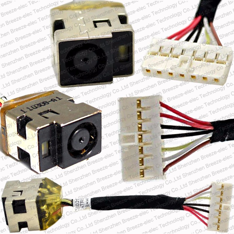 5 pieces/lot Original new Laptop AC DC Jack Power port plug cable Socket wire connector For HP 14.5 DV5 -2000 G6 6017B0258701