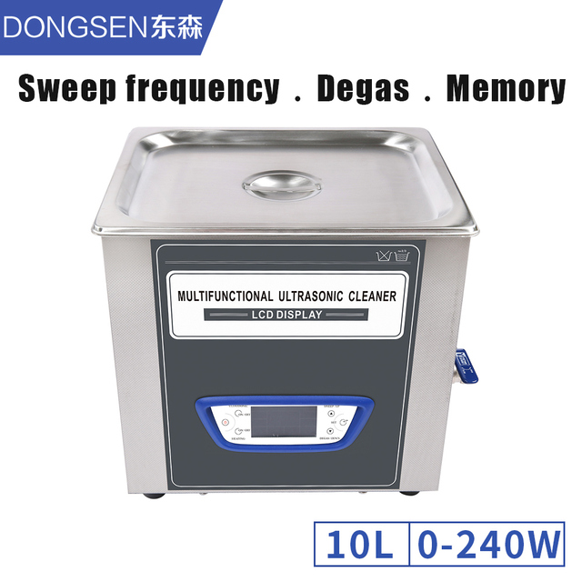 Industrial Ultrasonic Cleaner 10L Power Timer Temperature Adjust Circuit Board Lab LCD Screen Ultrasound Cleaning Machine Tanks