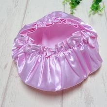 1pcs Lovely Thick Women Shower Satin Hats Colorful Bath Shower Caps Hai
