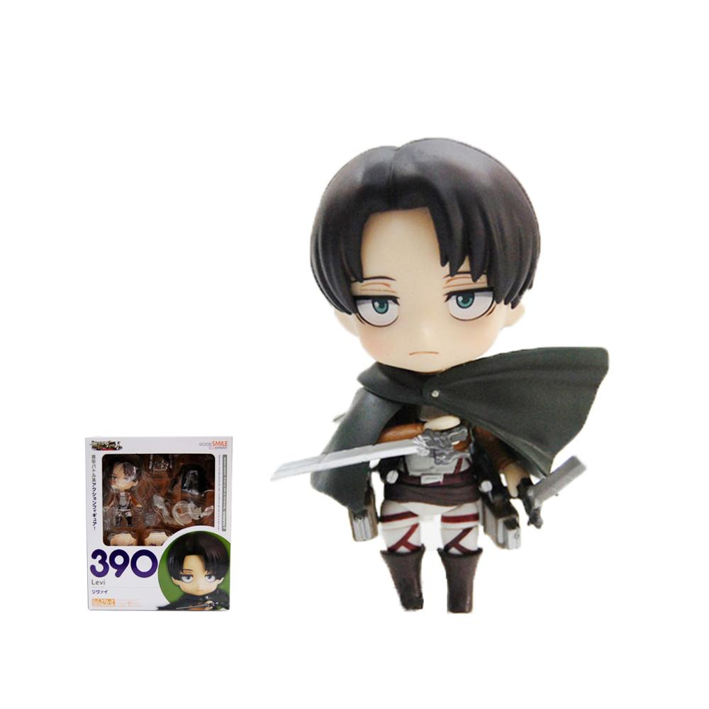 GSC Nendoroid #375 #390 Captain Attack on Bing Long Titan Levi Ackerman Alan PVC Action Figure Collection Model Toy 10cm WL054 free shipping cute 4 nendoroid luck star izumi konata pvc action figure set model collection toy 27 mnfg032