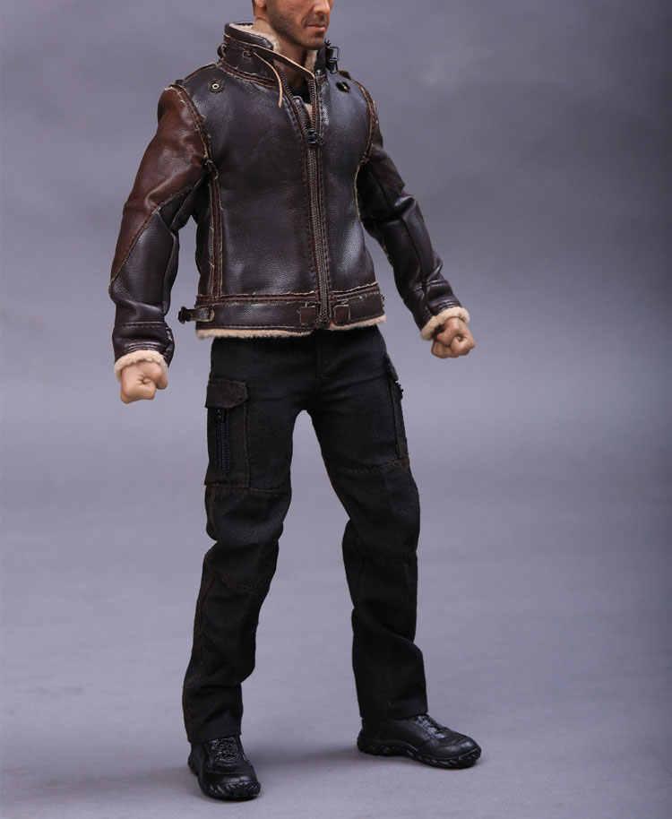 1//6 Scale Warrior Terminator 2018 John Connor Retro Leather Set Figurines Model
