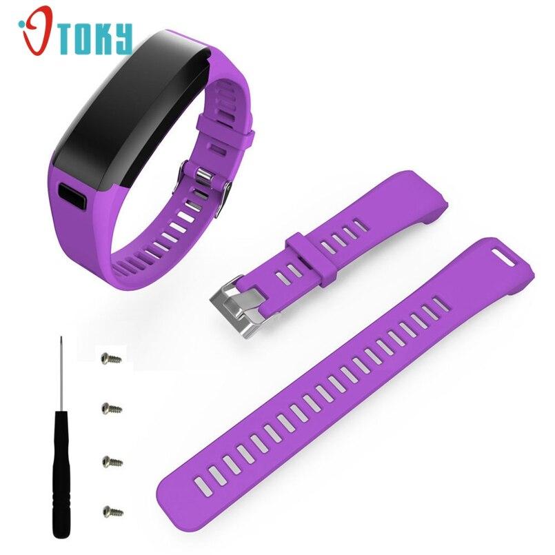 Excellent Quality Fashion Sports Silicone Band Strap Bracelet + Tool For Garmin Vivosmart HR Dropship