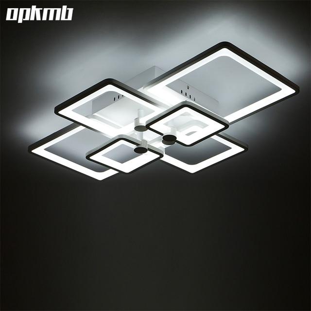 diy acryl led plafondlamp moderne woonkamer plafond verlichting kleur dimmen luminarias para. Black Bedroom Furniture Sets. Home Design Ideas