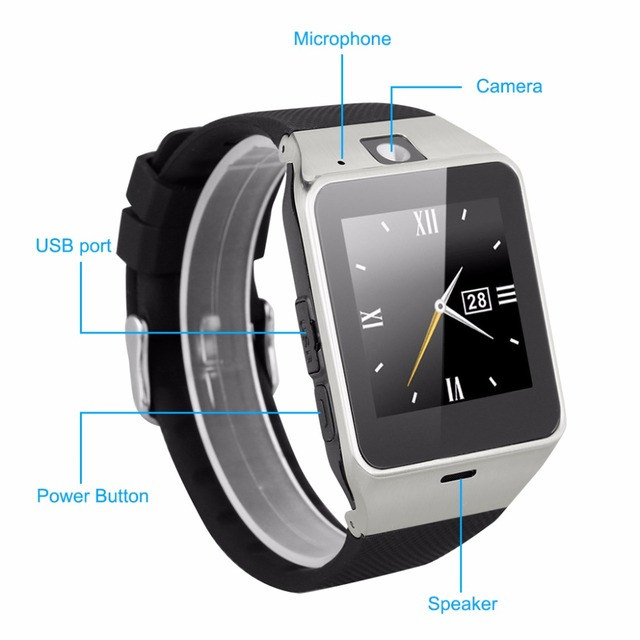 Smart Watch Aplus GV18 Clock Sync Notifier Support Sim Card Bluetooth Connectivity for Android Phone Smartwatch Watch