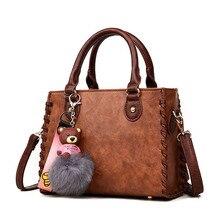 купить 2019 New Arrival Women Leather Handbag Shoulder Bag Tote Purse Vintage Fashion Ladies Hand Bags Woman Sac A Main Femme по цене 1395.11 рублей