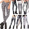 Sexy! Gothic! Fitness Women Skeleton Skull Bone Digital Print Leggings Harajuku Punk  Leggins Elastic Creative Pants