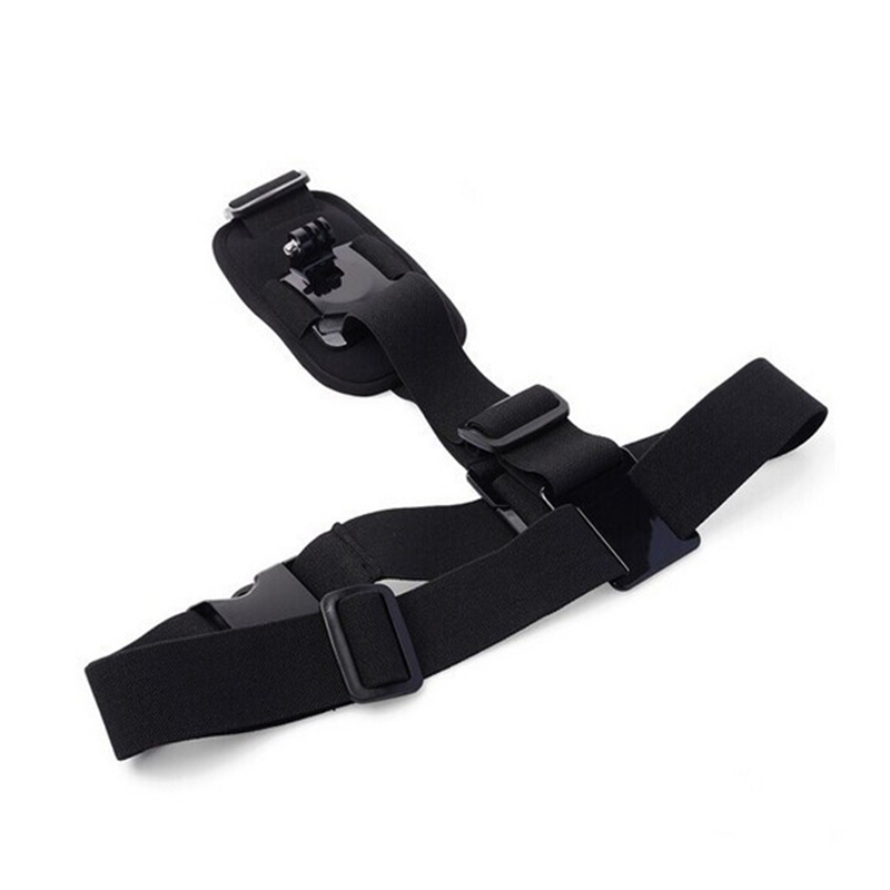 New Adjustable Single Shoulder Strap Grip Mount Chest Harness Belt Strap Clip Action Camera Accessories For Gopro hero 5 4 3+