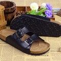 De moda Los Amantes de Corcho Zapatillas de Verano Sandalias Ocasionales Del Estilo Hombre Mujer Zapatillas de Playa Planos Zapatos Masculinos Mujeres Diapositivas