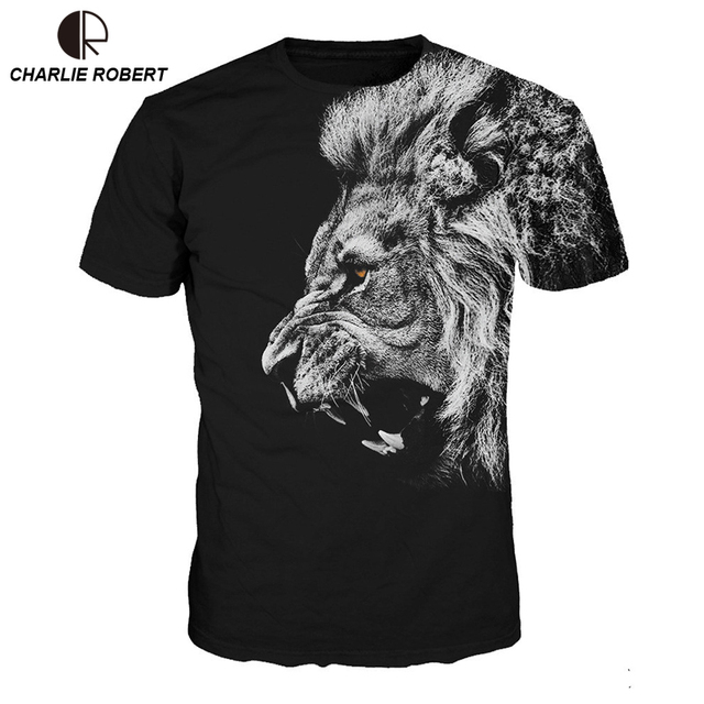 a4ad88ba US $16.98 |2017 New Stylish Lion Print T shirt Men/Women Harajuku Hip hop  Brand Tshirt Fashion 3D Printing T shirt Summer Tops Tees-in T-Shirts from  ...