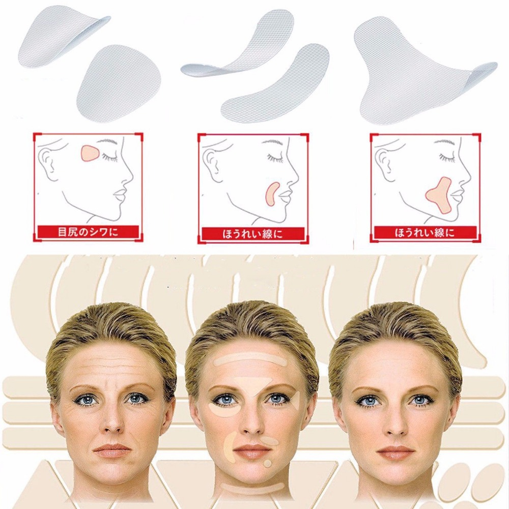 3 Types Face Lift Up Tape V-Shape Line Wrinkle Sagging Facial Line Skin Frown Smile Lift Fast Beauty Makeup Face Lift Tools