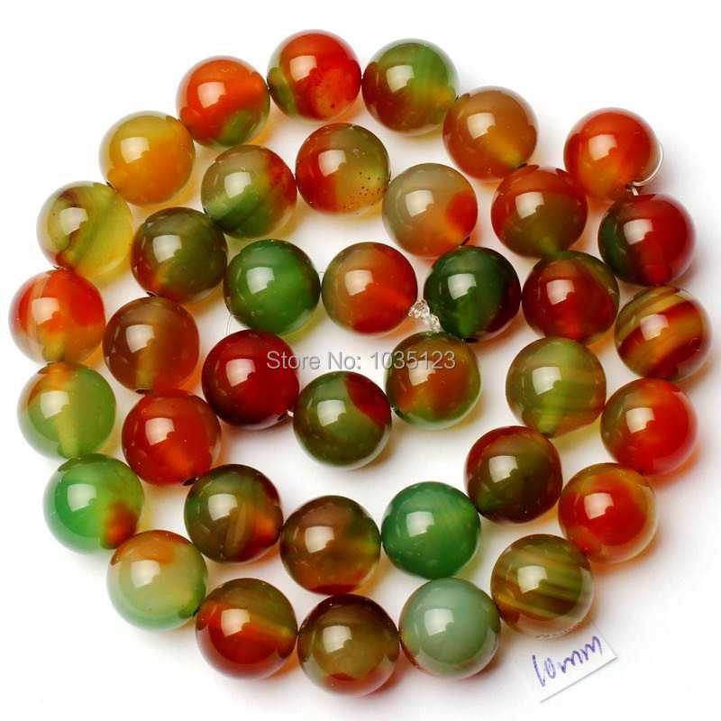 Free Shipping 10mm Smooth Round Shape Mixed Color Natural Agates Onyx Loose Beads Strand 15 DIY Creative Jewellery Making w2109