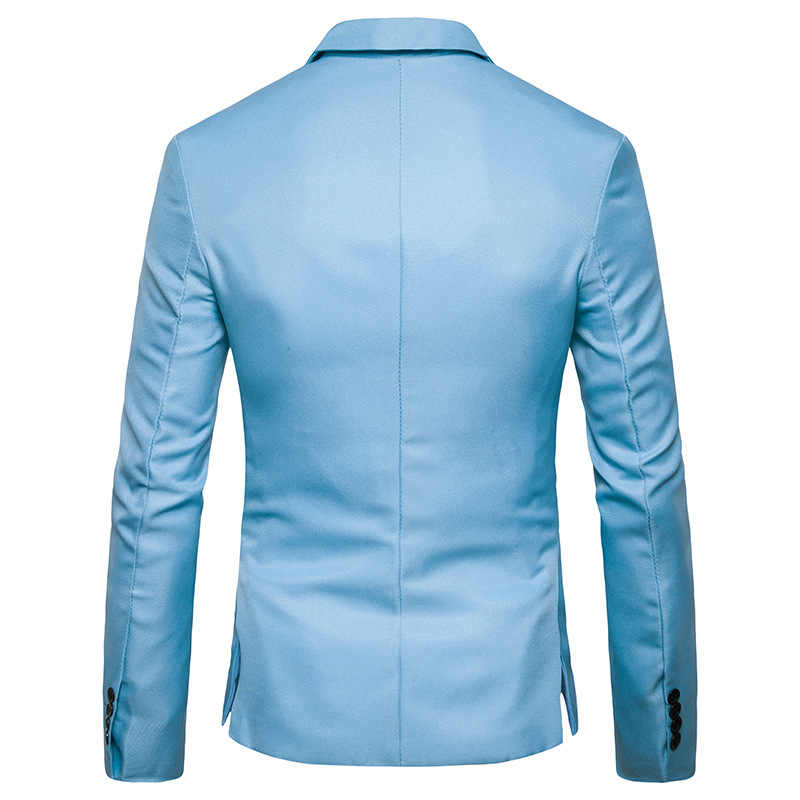 Mens One Button Notched Revers Groene Blazer Mannen Merk Slim Fit Casual Pak Jas Blazers Heren Business Office Kostuum Homme 2XL