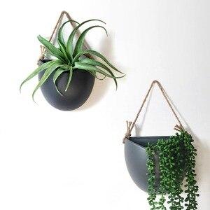 Creativo de pared de cerámica moderna plantador Oficina hogar sala de restaurante de pared flor maceta colgando macetas Artificial floreros