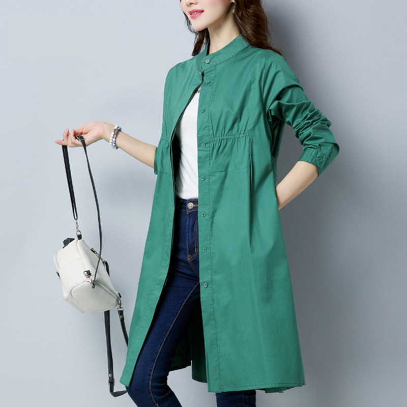 Spring Autumn Womens Long Windbreaker 2019 Korean New High Quality Thin Slim   Trench   Coats female Loose Overcoat Women Outerwear