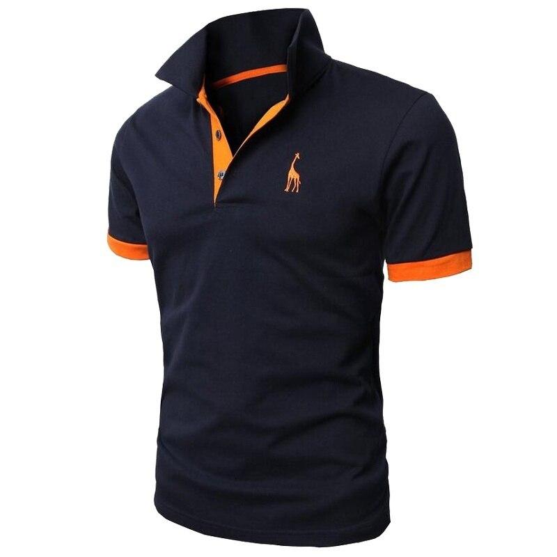 Zogaa nuevo hombre camisa de Polo para hombre Casual ciervo bordado de algodón camisa de Polo de los hombres de manga corta de alta cantidad de Polo de los hombres de negocios camisa