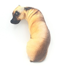 CAMMITEVER 3D สุนัขเสือตุ๊กตาหมอน Plush ของเล่นตุ๊กตาผ้าฝ้ายโยนหมอน Filled Cushion สำหรับเด็กเด็กสาว