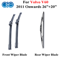 OGE Wiper Blade For Volvo V60 2011 Onwards Front And Rear High Quality Silicone Rubber Window