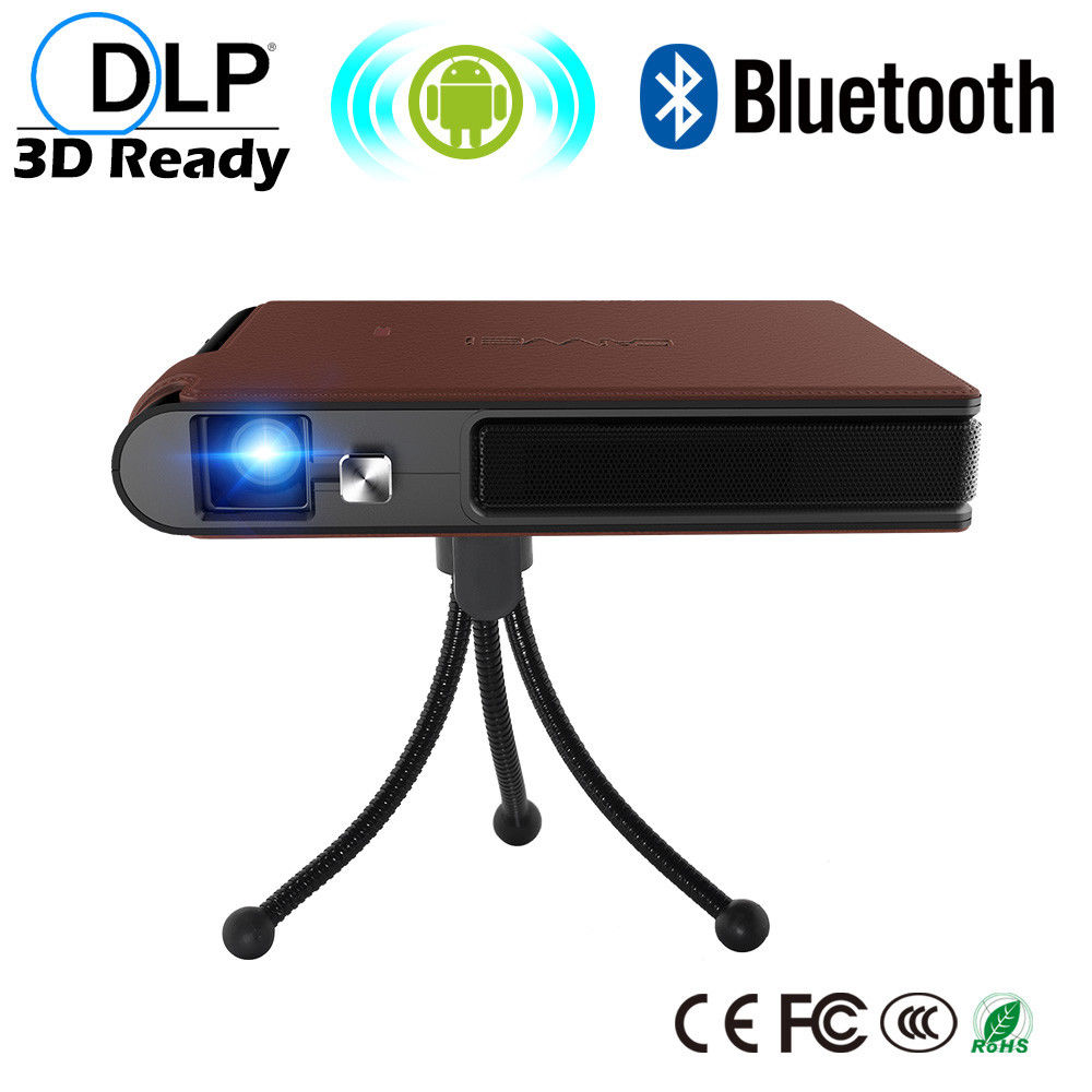CAIWEI Portable Pocket DLP Proyector 3D Vision Projector Android WiFi Bluetooth Home Theater Backyard Movie Support HD 1080P