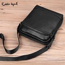 Cobbler Legend Genuine Leather Bag High Quality Shoulder Handbag Crossbody Bags for Men Messenger Black Luxury Brand Sling Bag