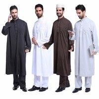 Fashion Muslim clothing for Men Kaftan Jubba Thobe Abaya Arab clothing Man Islamic clothing Ropa Arabe hombre baju muslim pria
