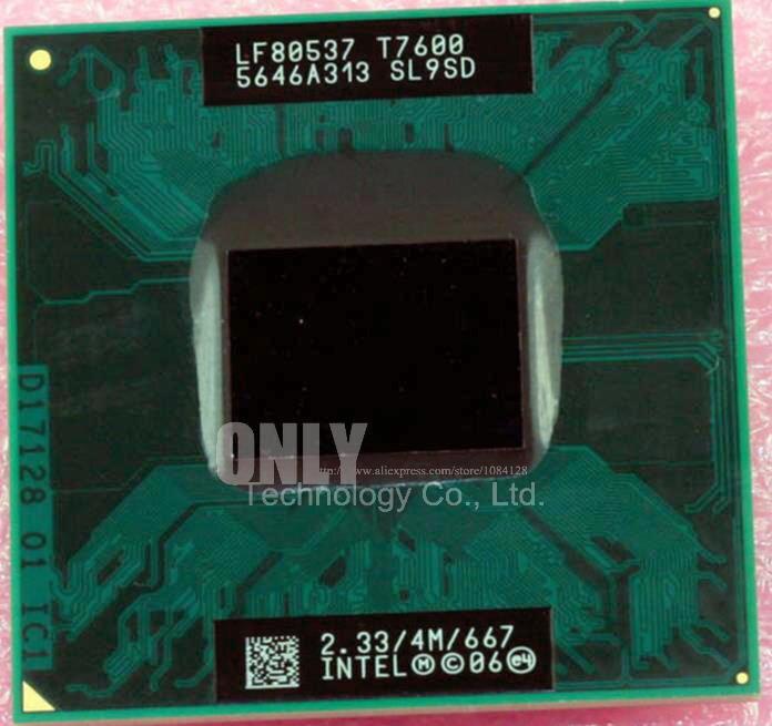 Бесплатная доставка Intel Процессор Ноутбук Core 2 Duo T7600 Процессор 4 м гнездо 479 Кэш/2.33 ГГц/667 двухъядерный процессор ноутбука поддержка 945