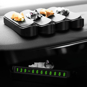 Image 3 - Phone Number In The Car Bulldog Temporary Parking Card Night Luminous Phone Number Car Plate Car Accessories Styling Car Sticker