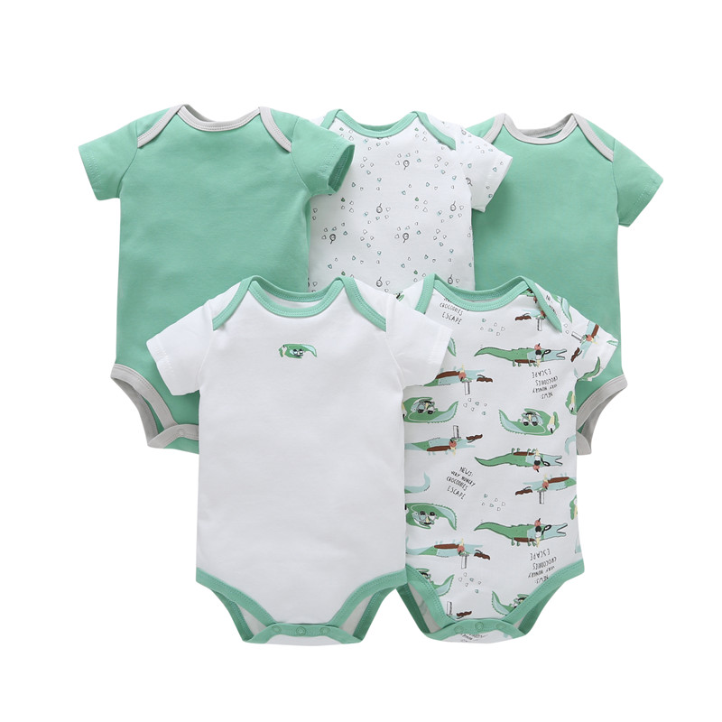 2016 New Original Baby Boys and Girls clothes infant clothing boys ,Bebes baby layette Clothing Sets 5pcs short sleeved