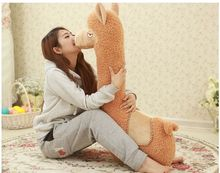 stuffed toy cute alpaca sheep plush toy about 95cm throw pillow sleeping pillow Christmas gift a7599