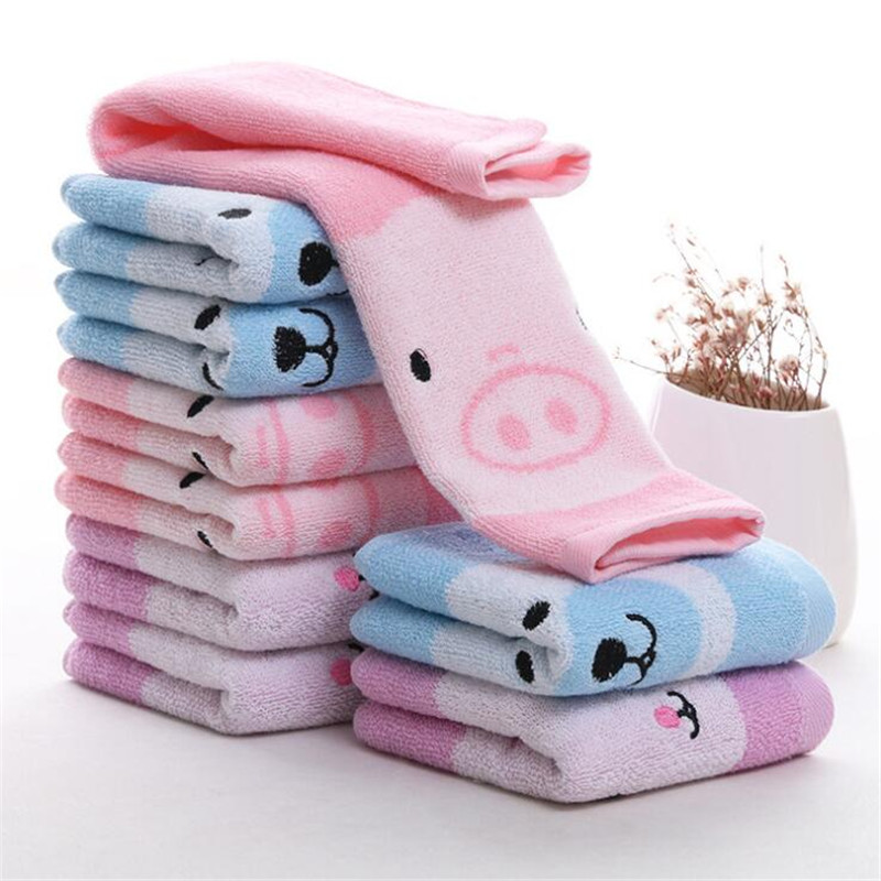 Baby Animal Toy Comfort Blanket Embroidery Cloth Feeding Wipe Cleaning 34x34cm