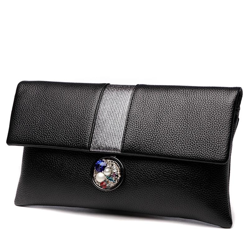 Великолепные красочные алмазов кисточкой из натуральной кожи Для женщин кошелек сцепления Кошелек вечерняя сумочка на ремне сумки Crossbody Су...