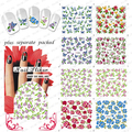 BeautyNailArt 50 hoja/lot, 75 Diseño AGUA DECAL NAIL ART NAIL STICKER TATUAJES DE UÑAS Materiales de ARTE
