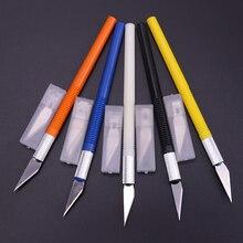 1 Набор 6 лезвий Нескользящие металлические деревянные ножи инструменты резак гравировальные ремесленные ножи инструменты для резьбы фруктов DIY Универсальный канцелярский нож