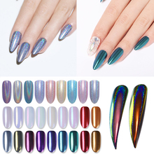 Nail Glitter Powder Silver Red Holographic Chorme Mirror Nail Powder Pigment Dust Decorations for Nail Art Manicure