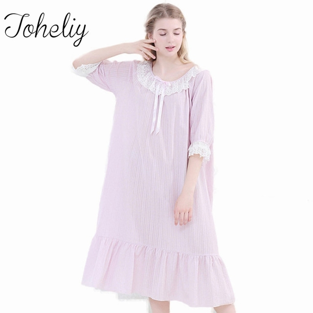 Princess Nightgown Autumn Young Lady Bow Women Dressing Gown 2017 ...