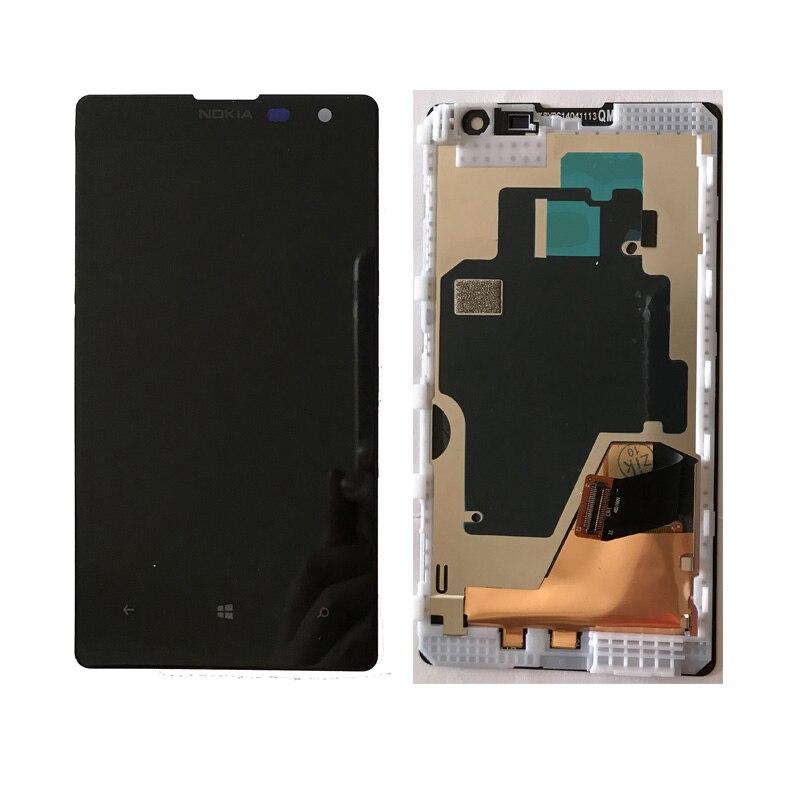Оригинальный Для Nokia Lumia 1020 ЖК-дисплей с сенсорным экраном планшета в сборе с рамкой Бесплатная доставка