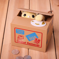 Money Safe Box Piggy Banks Children's Gifts Kids Toys Automated Cat Steal Coin Bank Piggy Bank Moneybox Clever Coin Deposit Jar