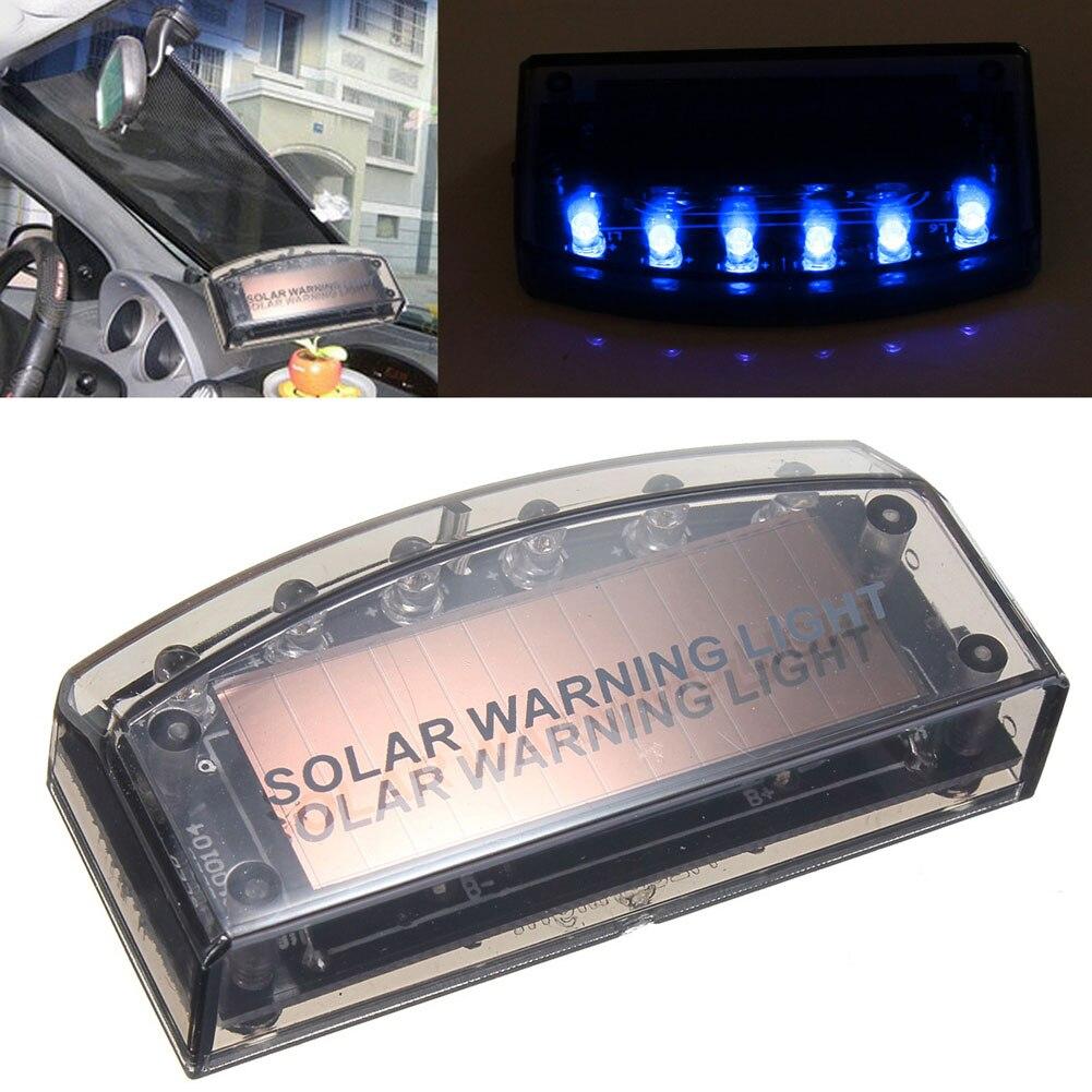 Car Auto LED Solar Power Light Flash Lamp Durable Alarm Warn