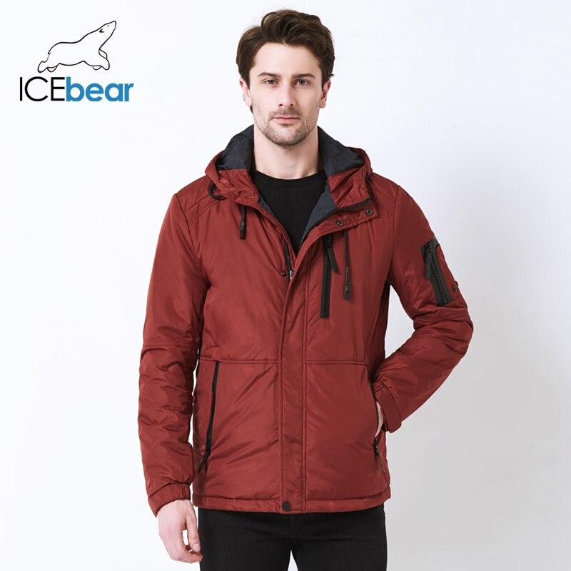 ICEbear 2019 весна новая мужская повседневная куртка мода воротник мужская съемная шляпа мужская куртка бренда MWC18107I