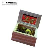 Gohide Nice Quality Movement Mini Hand Iron Pipe Music Box Round Hand Crank Music Box Romantic Musical Valentine's Day Present