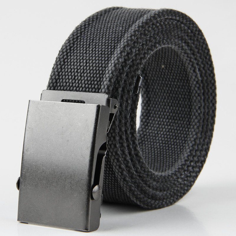 2018 Vintage Mens Cargo Fashion Waist belt metal Iron buckle 9 colors Canvas striped belt Army Thick strap,JP054