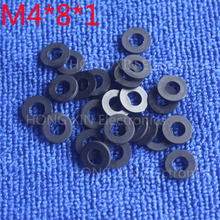 M4*8*1 1pcs Black Nylon Washer Plastic Flat Spacer Washer Thickness circular  round Gasket Ring High Quality circular