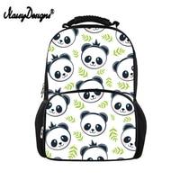 Noisydesigns Children School Bags or Kids Girl Panda Pattern Printed School Backpack Book Bag Men Women Boys Large Felt Bagpack