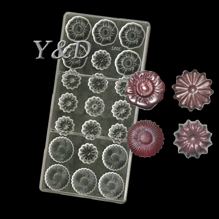 4 Kind of Little Flower Maker Hard Plastic 3D diy Injection Polycarbonate PC Sweet Candy Chocolate Jelly Mold Mould
