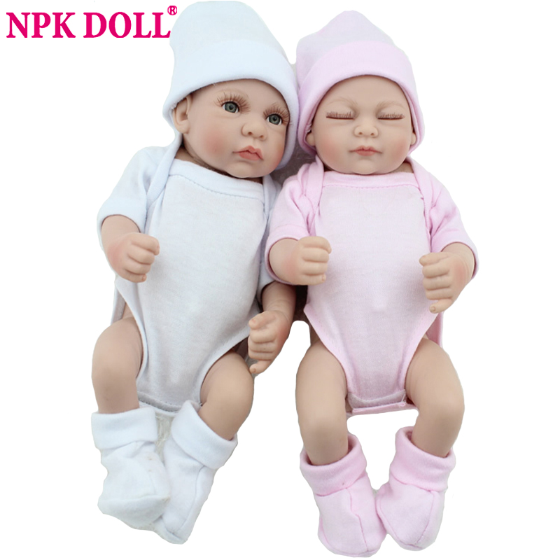 Doll Reborn Babies twins 10 Inch Preemie Bonecas Bebes Reborn Silicone Baby Dolls For Sale Fashion Twin Boy And Girl Toy Gift