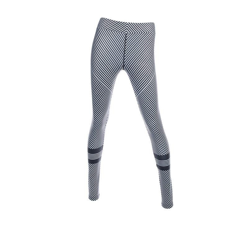 535fc1dfad7f8 US $16.99 |Aliexpress.com : Frauen Yoga Pants Schwarz Weiß Streifen runde  kreis Yoga leggings Active frauen hohe taille sommer outfits fitness ...