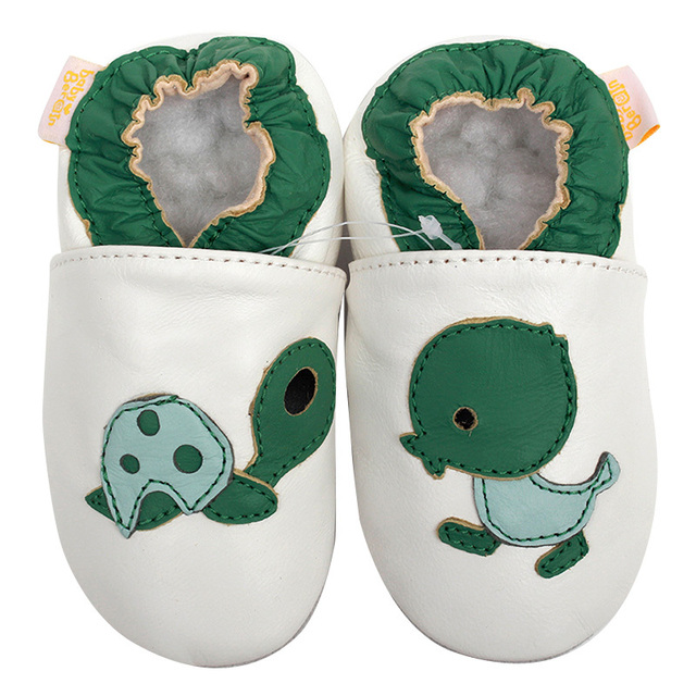 Newborn Baby Moccasins Animal Leather Baby Shoes White Infant Shoes Boys Toddler Kids Shoes Girl Slipper Soft Sole Baby Shoes